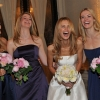 Bride is Laughing - Bridesmaids' Formal Portraits