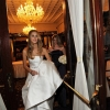 Bride Exiting Theater Lobby heading to Times Square