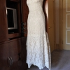 Wedding Dress Hanging in Carlton Hotel NYC