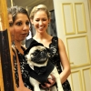 Dog dressed in Tuxedo with Bridesmaids NYC
