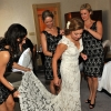 Bride Getting Dressed with Bridesmaids, Carlton Hotel, NYC
