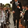 Groomsman Walks the Bridal Dog Down the Aisle NYC Rooftop Midtown Loft