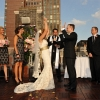 Bride and Groom begin High Fives at end of Ceremony