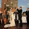 Bride and Groom High Fiving at end of Ceremony