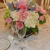 Close-Up of Floral Arrangement Centerpieces, Midtown Loft and Terrace Wedding Reception