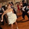Bride dancing, shaking Lace Dress