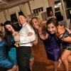 Groom Dances with Girls on Dancefloor