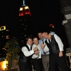 Groom and Friends in front of Empire State Building at Night