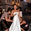 Bride getting Bustled, Union Square